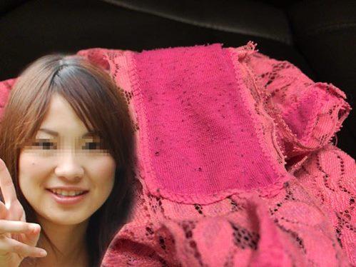 JDのピンクなエロパンティ画像【顔出し】