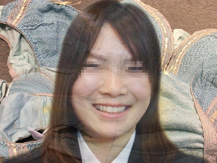 純朴な顔をしたOLのシミパン画像