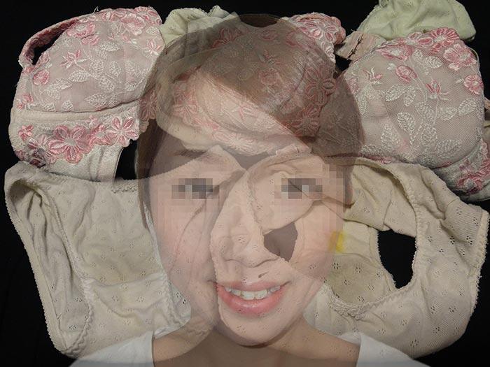友達の彼女のパンティーで自慰している画像