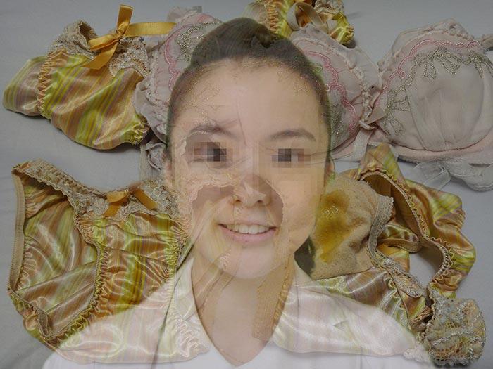 看護学生の危険な汚れのパンティクロッチ画像