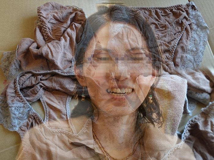 上司の奥さんのパンティを引越で発見した時の画像