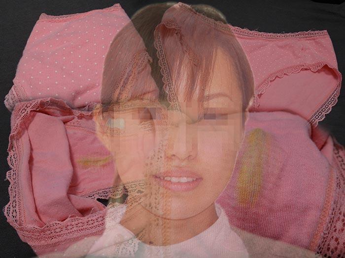 ピンクの黄ばみ汚れが最高なシミパン画像