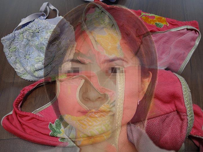 友達の嫁さんの赤い汚れ下着画像