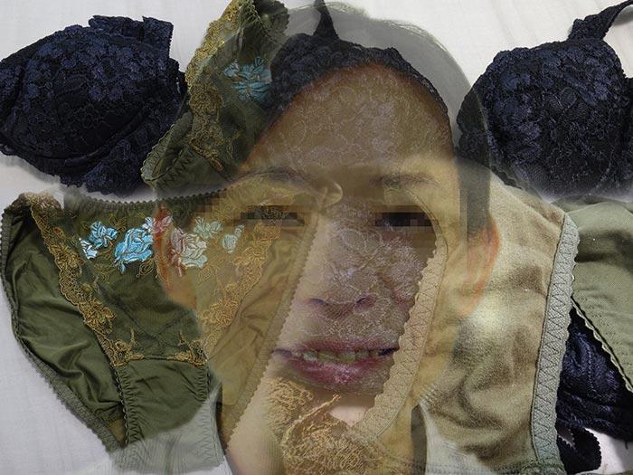 友人の母親の汚れクロッチを嗅ぎ舐める画像