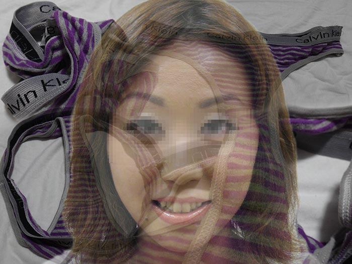 ギャル顔の人妻パンティ