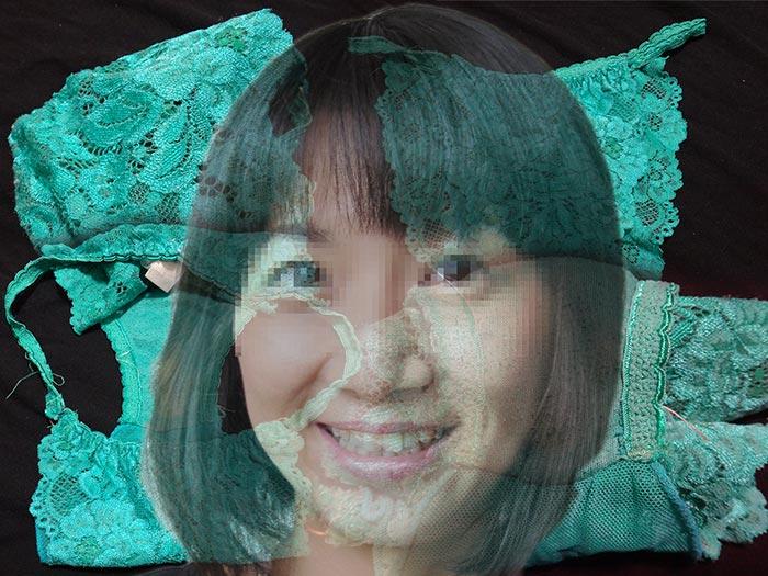 人妻のグリーンパンティ